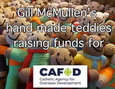 Gill McMullen Teddies for cafod